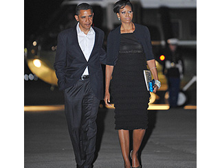 Barack fulfills promise to Michelle with Broadway date