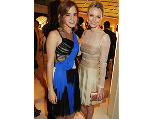 Stylish Emma Watson joins Kate Bosworth at London fashion party