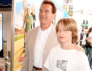 Arnold's teen son finds enterprising way to raise pocket money