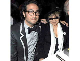 John and Yoko's boy helps mum celebrate music honour