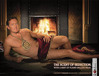 Piers Morgan turns beefcake for new burger scent
