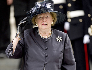 Baroness Thatcher will remain in hospital to recover from fall