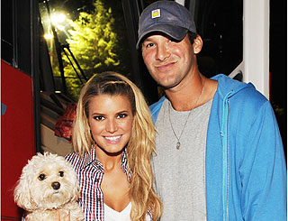 Jessica Simpson and her football star beau Tony Romo split up