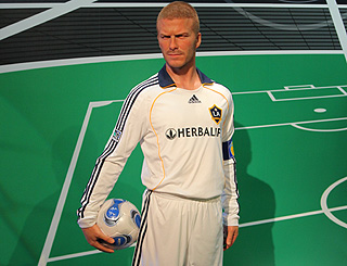 Waxwork of Becks to be displayed in Hollywood