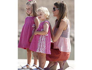 Spanish princesses pretty in pink on summer holiday