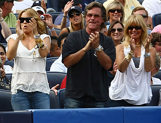 Meet the parents: Kate brings Goldie and Kurt along to watch A-Rod