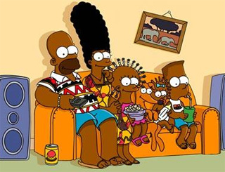 African makeover for The Simpsons ahead of Angola show