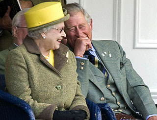 Queen and Charles in stitches as Camilla absent from games