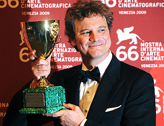 Best actor award for Colin Firth at Venice film fest