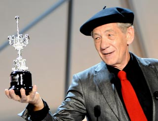 Magical moment for Ian McKellen as he picks up lifetime award