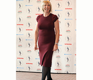 Fern Britton looking svelte in figure-hugging frock
