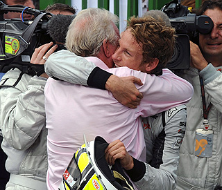 Jenson Button dedicates victory to model love Jessica