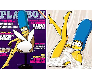 Marge Simpson does racy shoot for 'Playboy'