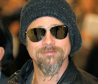 Is Brad Pitt taking part in 'No Shave November'?