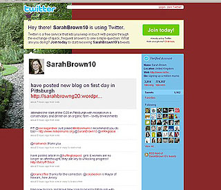 Sarah Brown on course for million Twitter followers