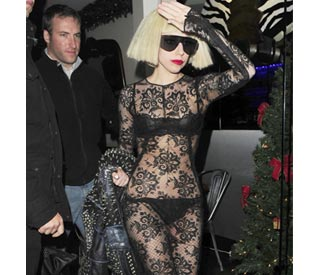 Lady GaGa dares to bare on London night out