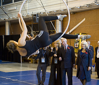 Charles and Camilla visit Canada's famous circus