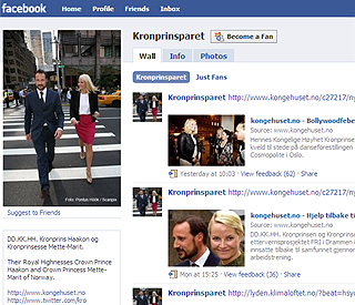 Haakon and Mette-Marit join social networking revolution