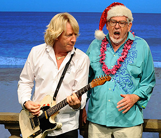 Rolf Harris and Status Quo team up for festive jingle
