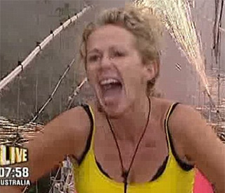 Lucy Benjamin first star voted off I'm A Celeb…
