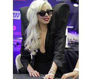 Lady Gaga takes shoulder pad trend to new heights
