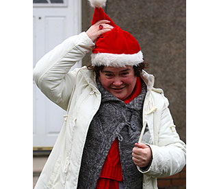 Susan Boyle in festive spirit as she ups home security