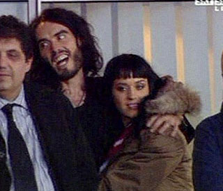 Russell Brand and Katy Perry Ham it up at match