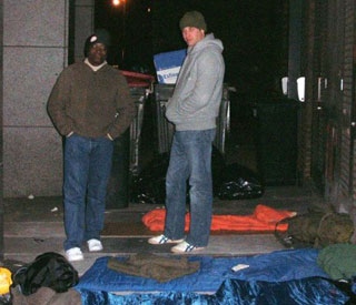 Prince William sleeps rough on streets of London
