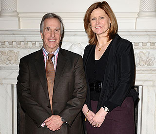 The Fonz pays visit to Sarah Brown at Downing Street