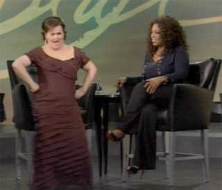 Susan Boyle wiggles one last time on Oprah