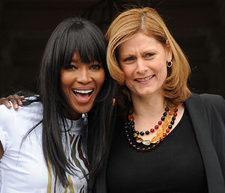 Sarah Brown joins forces with pal Naomi Campbell