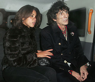 Another young lady romanced by Ronnie Wood