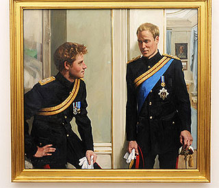 'Wills has less hair than that!' jokes Harry on portrait