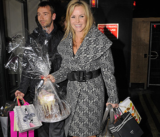 Birthday girl Amanda Holden inundated with gifts