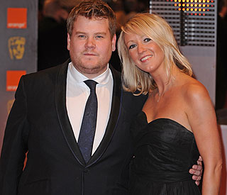 James Corden debuts 'wonderful' romance at Baftas