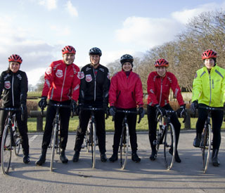 Celebs join David Walliams for marathon bike ride