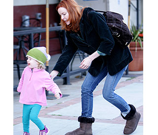 Marcia Cross' little one proves a handful in LA