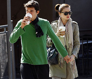 Miranda Kerr and Orlando Bloom hand-in-hand in LA