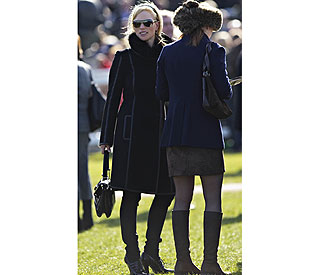 Zara Phillips ahead in the style stakes at Cheltenham