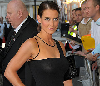 Kirsty Gallacher denies romance with Tiger Woods
