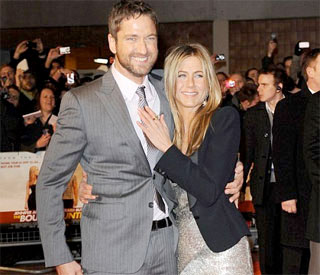 Jennifer Aniston's golf date with Gerard Butler's mum
