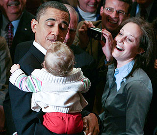 Barack Obama finds himself a new little fan