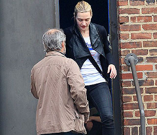 Kate Winslet and Sam Mendes stay civil on school run