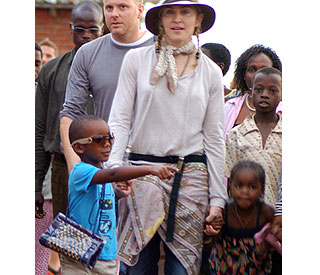 Madonna takes David to visit former orphanage