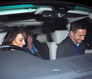 Christine behind wheel on date with Frank Lampard