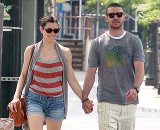 Jessica Biel and Justin Timberlake in show of unity