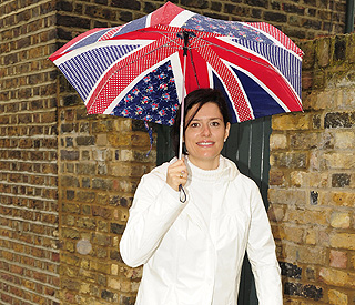 Nick Clegg's Spanish wife shows her British colours