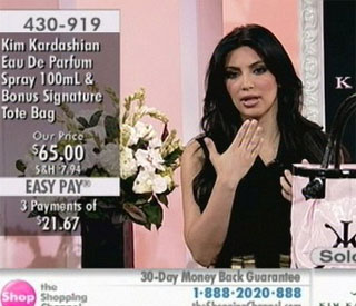 Kim Kardashian turns saleswoman on live TV