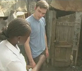 About a Boy star Nicholas Hoult slums it in Kenya
