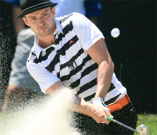 Justin Timberlake surprises bride with golf lesson